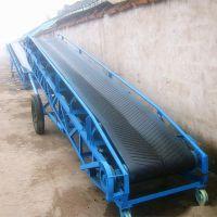 水泥厂装车带式输送机 散粮食装车卸车传送带 铁块装卸输送机