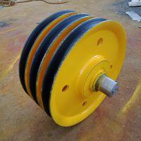 现货直销 直径500*100起重机滑轮片 铸钢 轧制 铸铁定滑轮组