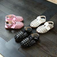 童鞋2018夏季新款女童甜美珍珠凉鞋宝宝小童软底蝴蝶结公主鞋批发