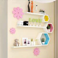 创意格子挂墙上置物架壁挂隔板搁板壁柜电视背景墙装饰书架免打孔