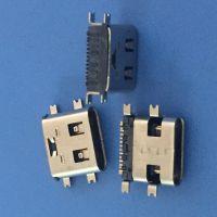 USB 3.1 16P 四脚贴板 有柱 L=7.35 板上3.26mm 有弹