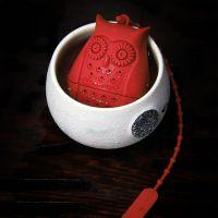 创意可爱硅胶泡茶器 硅胶卡通猫头鹰茶具 礼品猫头鹰硅胶茶包 厂家现货