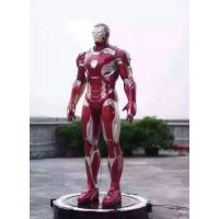 钢铁侠雕塑复仇者联盟漫威电影人玻璃钢雕塑彩绘电影院门口网吧钢铁侠影院大型美国英雄人物真人比例绿巨人复