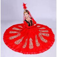 维吾儿服装女新款新疆舞蹈演出服饰成人连衣裙开场舞大摆裙表演服