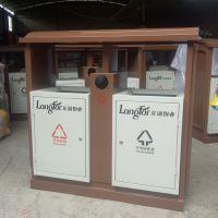 户外景区垃圾桶注册商标 可印字印图案 钢板果皮箱 看中质量的生产企业