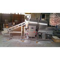 供应SXFT600-V滚筒上粉机,裹粉机,上面包屑机,上浓浆机,汉堡肉饼成型机