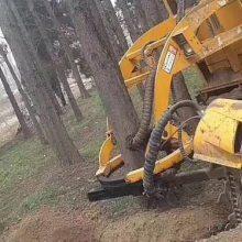 3WSL-1.6型履带式挖树机参数 三普挖树机多少钱一台链式旋切挖树机挖树机厂家