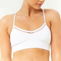 瑜伽服加工厂 细肩带瑜伽服运动内衣女背心式美背跑步健身文胸bra女贴牌