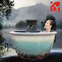 景德镇定做陶瓷大缸 家用泡缸 沐浴缸泡桶 温泉浴缸澡厂家缸