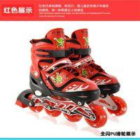 厂家直销正品单排滑冰鞋可调节全闪溜冰鞋旱冰鞋童鞋