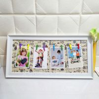 速卖通韩式创意悬挂式相片墙挂墙塑料相框儿童宝宝相框跨镜亚马逊