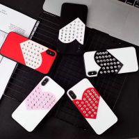 奢华高档有机玻璃镶钻苹果8手机保护壳iPhone X个性爱心手机壳