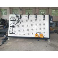 木工机械门窗窗框框架挤压组合机 液压油动气动侧面压紧框架组合