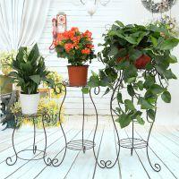欧式阳台花架 铁艺 多层客厅室内地面绿萝花盆架植物架多肉花架子