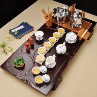 茶盘实木全自动电磁炉上水茶台大号整套四合一体家用紫砂茶具套装