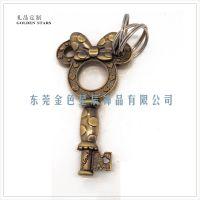 米奇形状钥匙外形钥匙扣 卡通动漫钥匙链 定做复古青古铜钥匙挂件