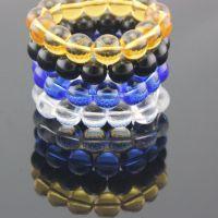 【地摊货源】水晶手链  14mm珠玻璃手链 时尚女士玉手链批发
