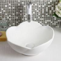 新款白色连体卫生间台上盆溶盛陶瓷洗脸盆