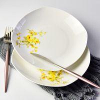 厂家批发陶瓷盘子 家用热菜盘 定制礼品餐具套装 碗盘碟加logo