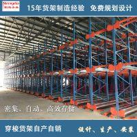 厂家设计定制重型穿梭式货架立体仓库穿梭车仓储货架用于冷库食品