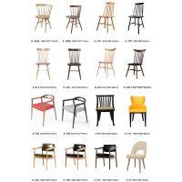 现代中式实木椅子餐厅靠背水曲柳木餐椅