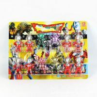 518-5 12只装卡通超人玩具 儿童模型玩具地摊赶集热卖10元货源