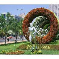 长期供应贵州各种仿真造型 真植物景观雕塑 一起走主题