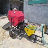 新疆牧草粉碎打捆机 养殖牛羊草料包膜机 玉米秸秆打捆包膜机