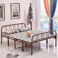 折叠床单人床家用简易双人1.5铁艺铁床架成人1.2米钢丝床现代简约