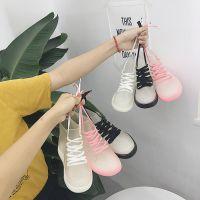 韩国新款时尚系带雨鞋短筒女鞋可爱透明防滑雨靴学生系带雨鞋