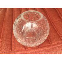厂家直销 玻璃裂纹烛台杯 烛台 可接受定制 支持外贸