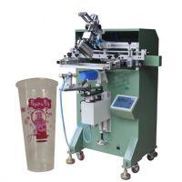 咖啡杯丝印机咖啡壶热水壶400R曲面丝印机圆形丝网印刷机