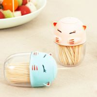 【创意多样】可爱萌猫造型牙签筒 多用途调味瓶罐 牙签筒