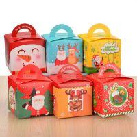 圣诞节平安夜苹果包装盒圣诞礼物盒圣诞老人送小孩平安果礼物袋