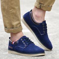 新款秋季男式磨砂透气休闲鞋时尚英伦运动男鞋欧美登山男士帆布鞋