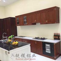 全铝橱柜定制整体厨房橱柜定作仿实木全铝衣橱柜家具厂家