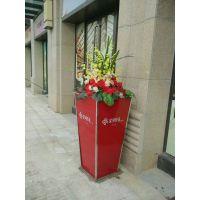 广汉 酒店花盆 渡假树玻璃钢艺术花箱 金属花钵(振兴)