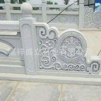 石雕大理石栏板 浮雕拱桥阳台柱 园林摆件石栏杆加工