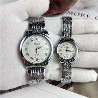 厂家直销热卖爆款男士钢带手表 简约刻度休闲石英表 一件代发