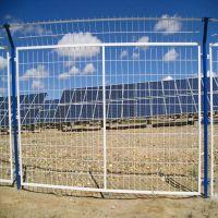 厂家热卖 光伏发电厂隔离护栏网 朋英 浸塑双边围栏网框架防护网