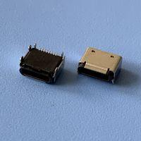 苹果全塑卧式贴板插座 蓝牙耳机充电插座 Lightning8P/180度贴板SMT插座 带外壳