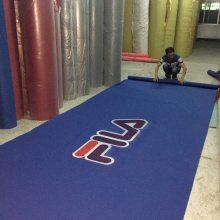 深圳宝安国际会展专业定制各种liongd的手工毯,塑胶地毯