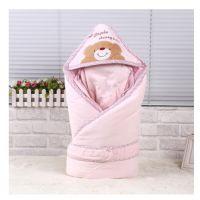 婴舒爽加厚新生婴儿脱胆抱被宝宝包被 纯棉幼儿可拆洗抱毯1米*1米