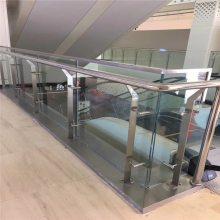 新云 挂玻璃不锈钢立柱 夹胶玻璃 楼梯护栏 按图定制