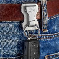 304不锈钢汽车钥匙扣男士穿皮带创意环腰挂钥匙链单排礼品
