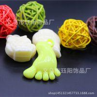 厂家直销亚克力塑料珠 黄色大脚丫挂件 创意挂件 eva钥匙扣