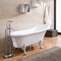 独立一体式白色贵妃欧式家用亚克力保温浴缸