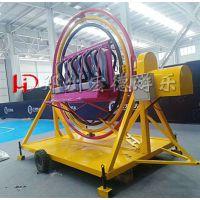 摆摊小型游乐设备三维太空环刺激好玩娱乐项目郑州宏德游乐热销