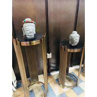 古典中式不锈钢博古架 仿古工艺品展示架 德和不锈钢架子拉丝玫瑰金bxg160