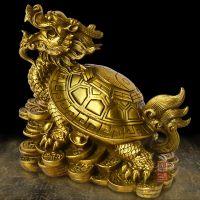 开光摆件龙龟纯铜风水招财八卦龙头龟办公室工艺品摆设大号